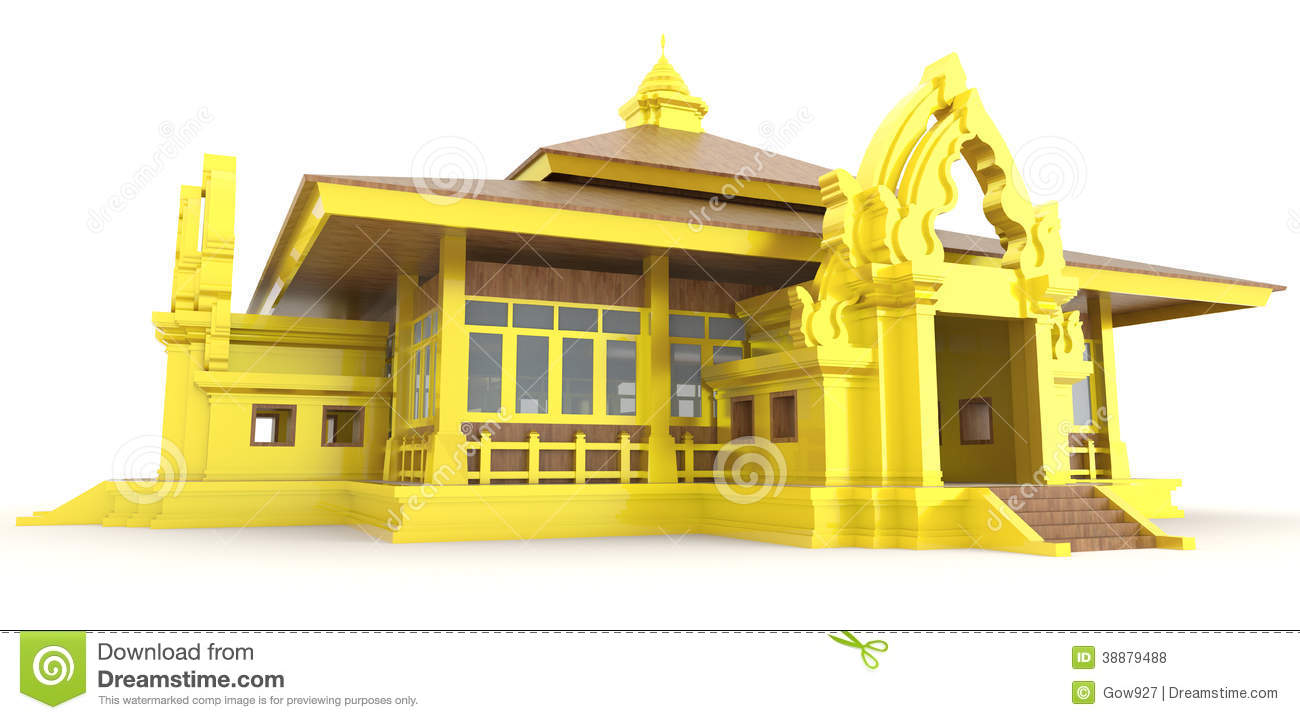 3d cambodian palace exterior in backgroun stock for Exterior background