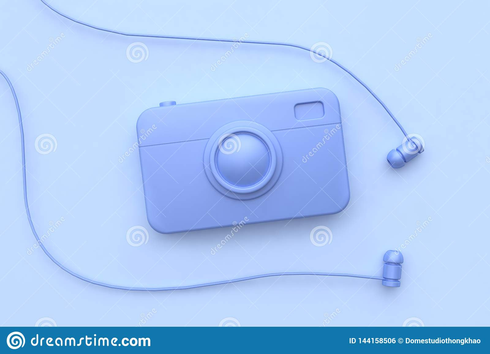 3d camera de oortelefoon maakt het purper-viooltje van het technologieconcept al voorwerp abstracte scène