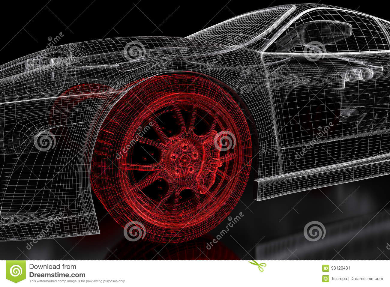 3d car mesh on a black stock illustration illustration of computer 3d car mesh on a black malvernweather Choice Image