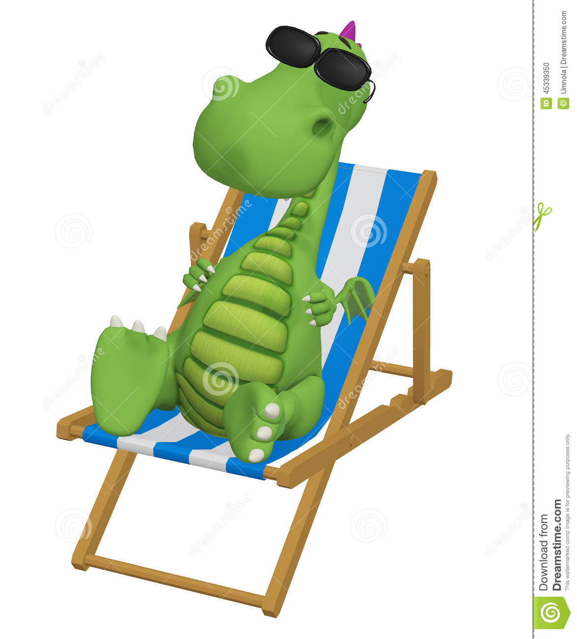 ... Relaxing In His Beach Chair Stock Illustration - Image: 45339350