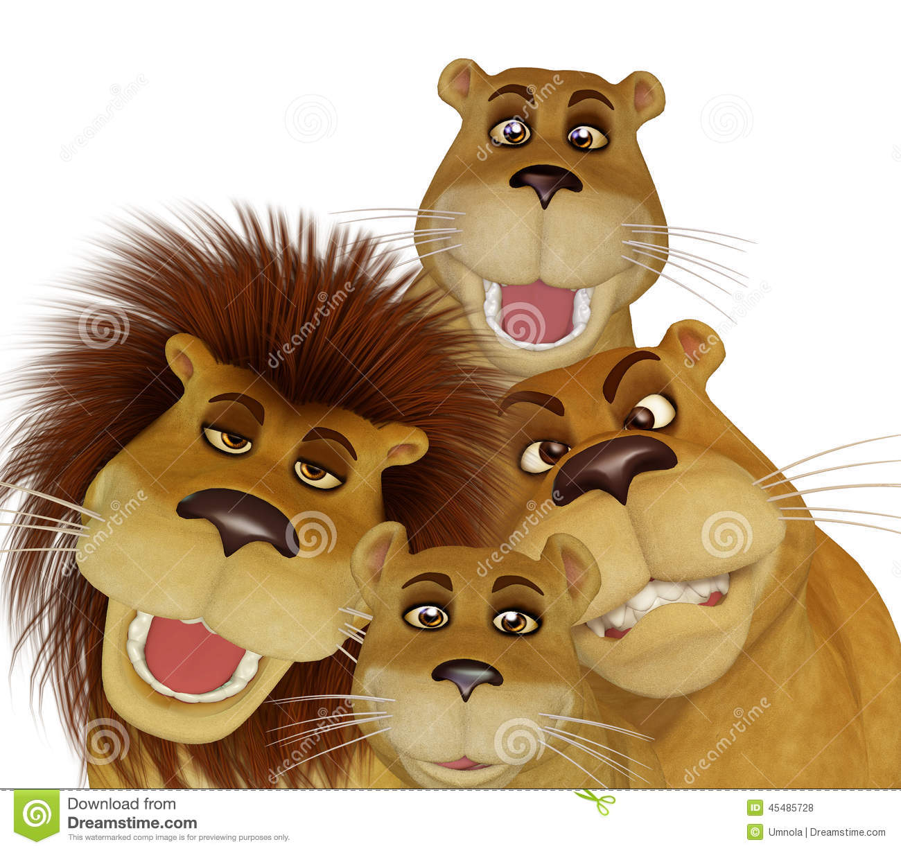 Free Lion Family Clipart