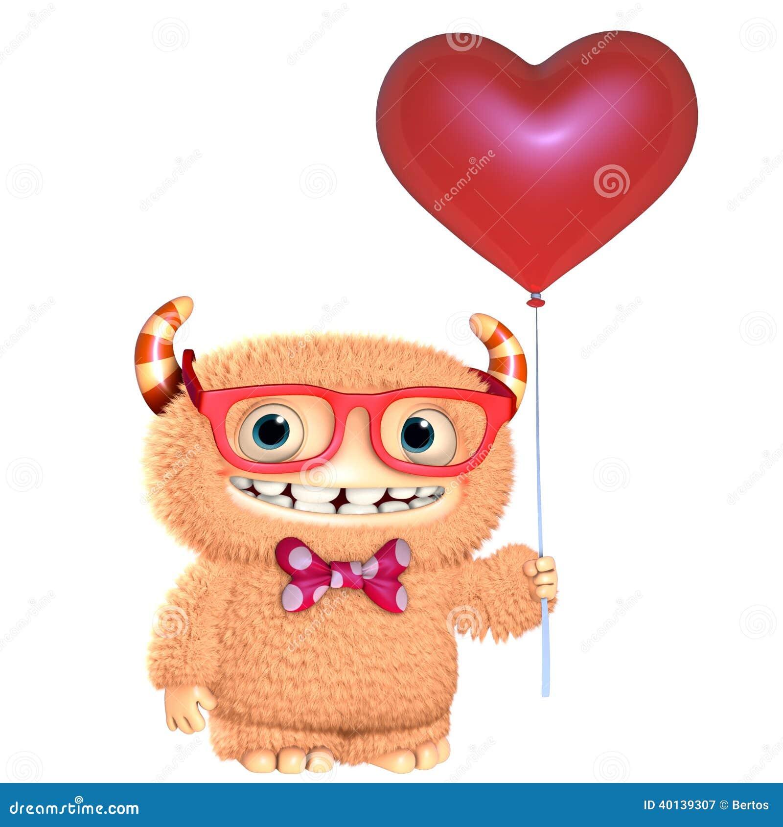 cartoon Monster In Love Wallpaper : 3d cartoon Monster Stock Illustration - Image: 40139307