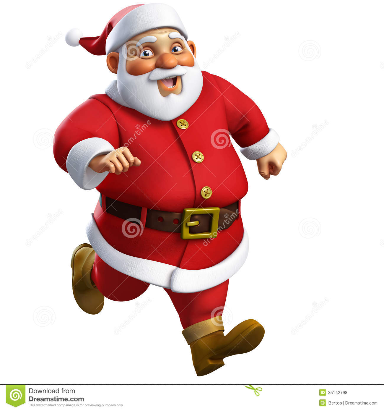 Image De Noel 3d.3d Cartoon Santa Stock Illustration Illustration Of Funny