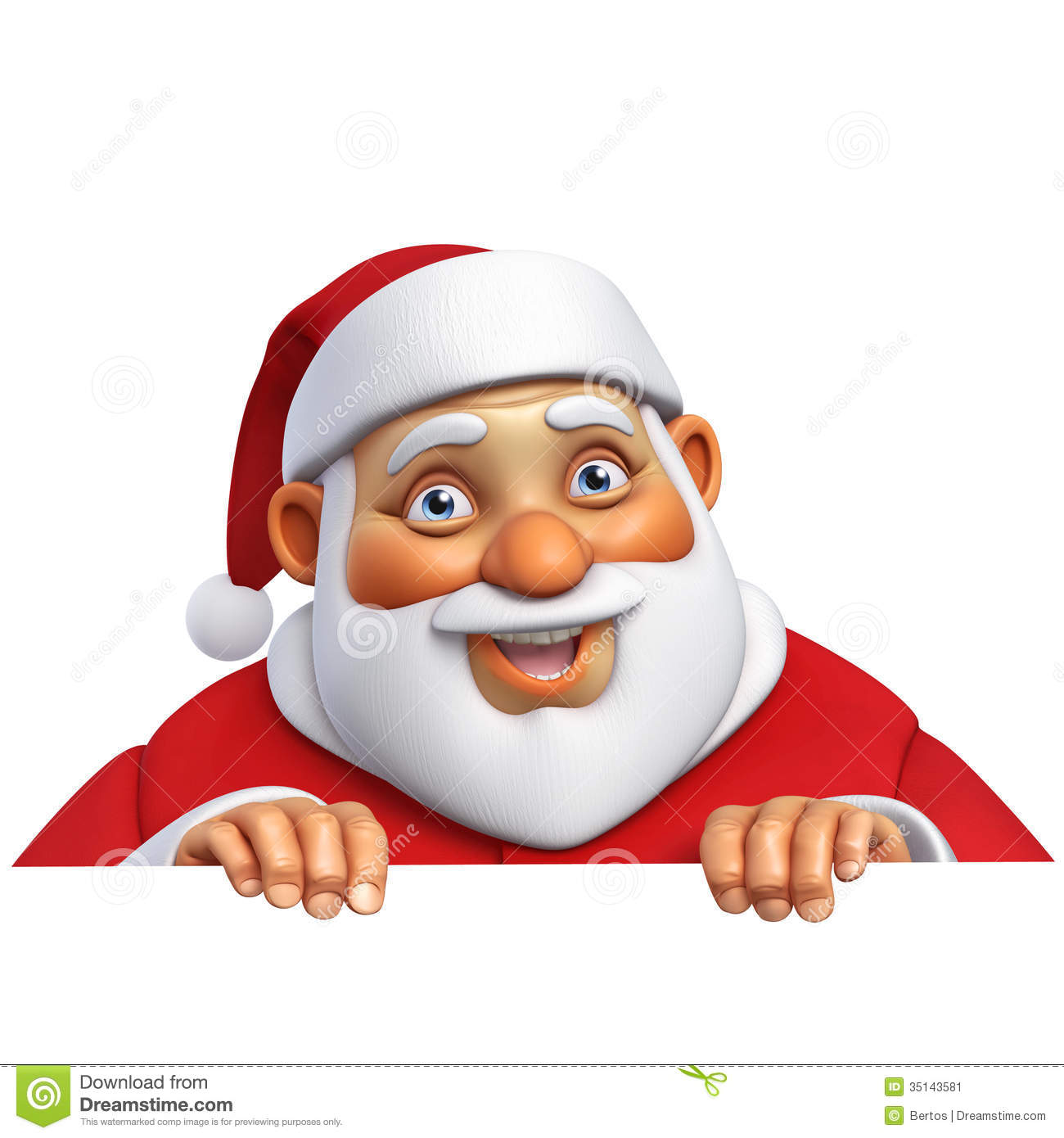3d Cartoon Santa Stock Image - Image: 35143581