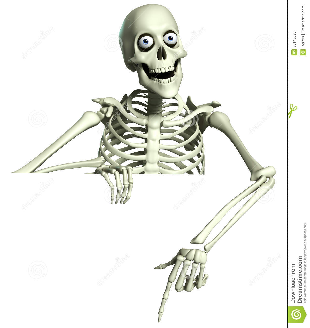 3d Cartoon Skeleton Royalty Free Stock Photo - Image: 35143675: https://www.dreamstime.com/royalty-free-stock-photo-d-cartoon...