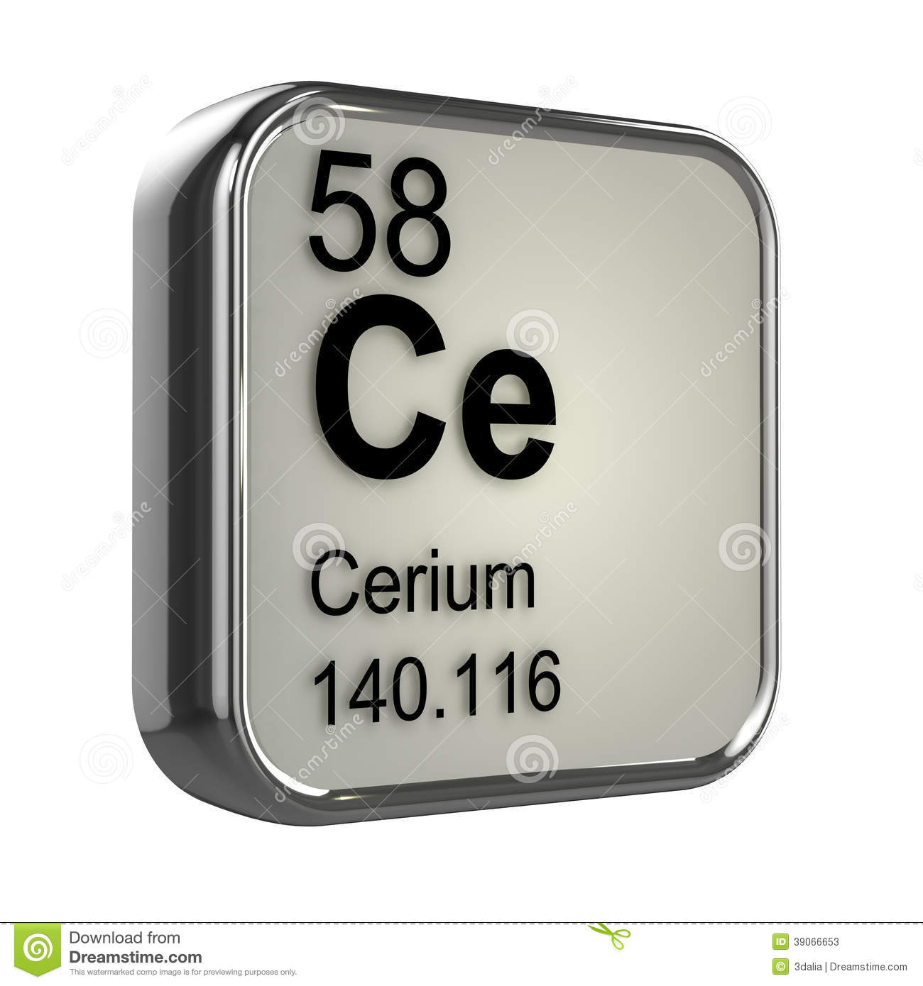 Eudyalite, a sample of the element Cerium in the Periodic Table