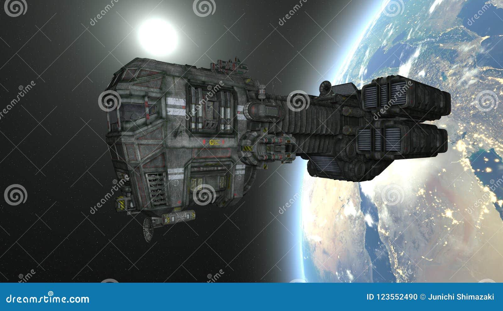 3D CG rendering astronautyczny statek