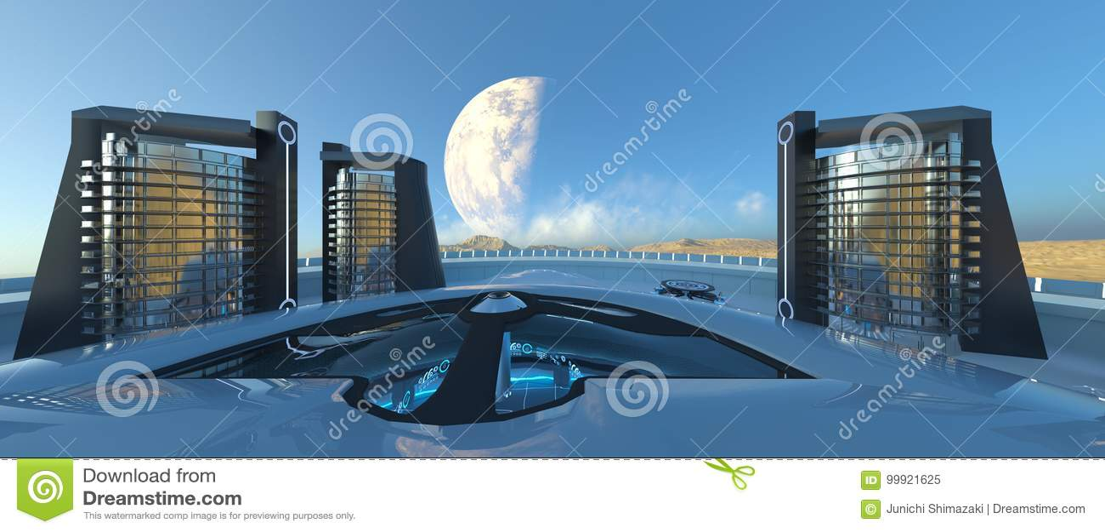 Future city stock illustration  Illustration of fantasy