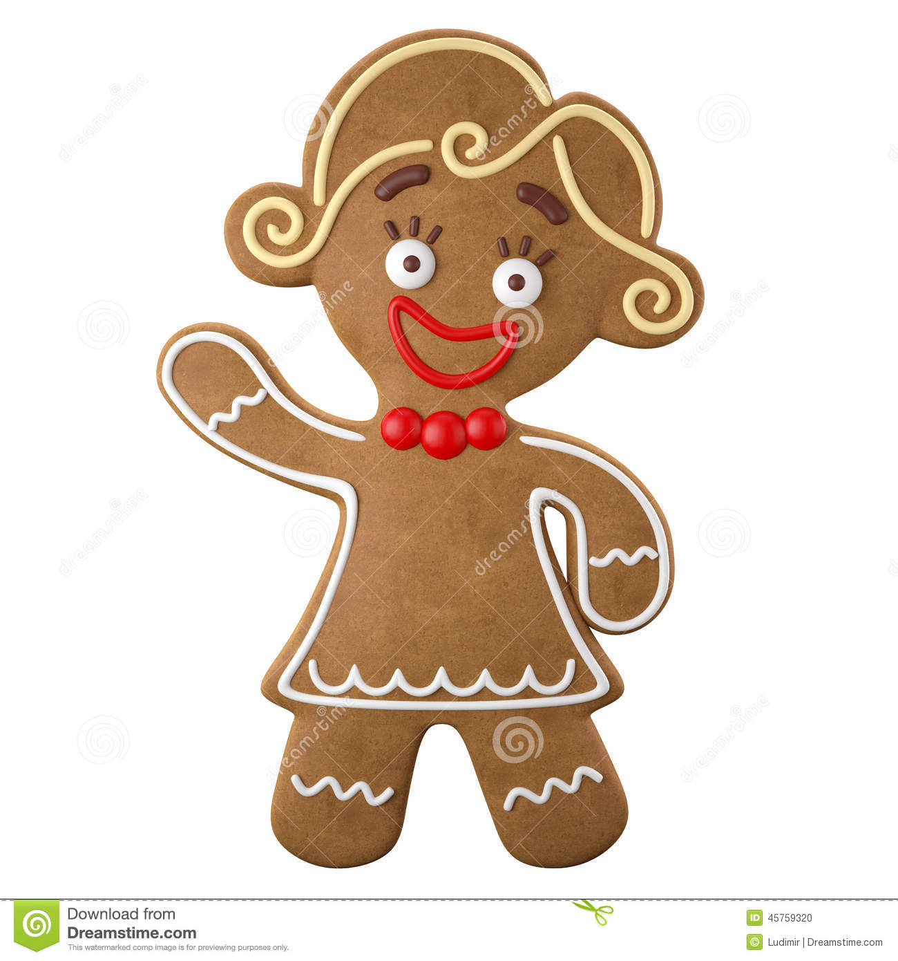 3d Character, Cheerful Gingerbread, Christmas Funny Decoration, Stock ...