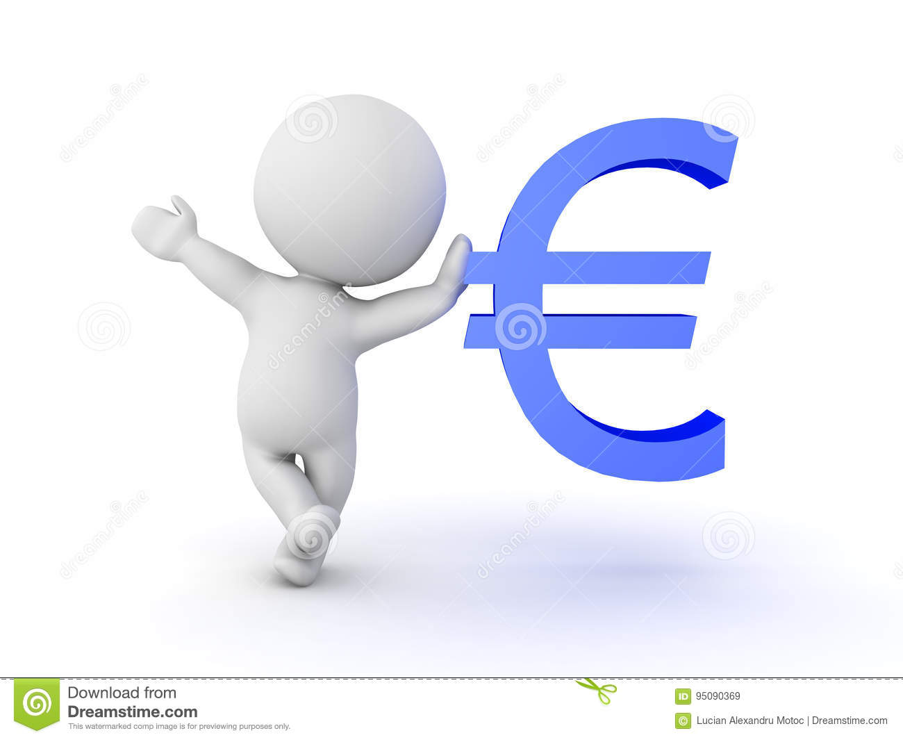 3d character leaning on blue euro currency symbol stock illustration 3d character leaning on blue euro currency symbol buycottarizona Choice Image