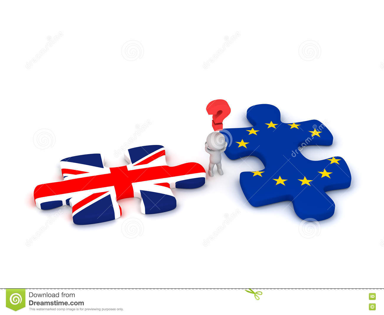 british man with european flag and union jack stock vector image