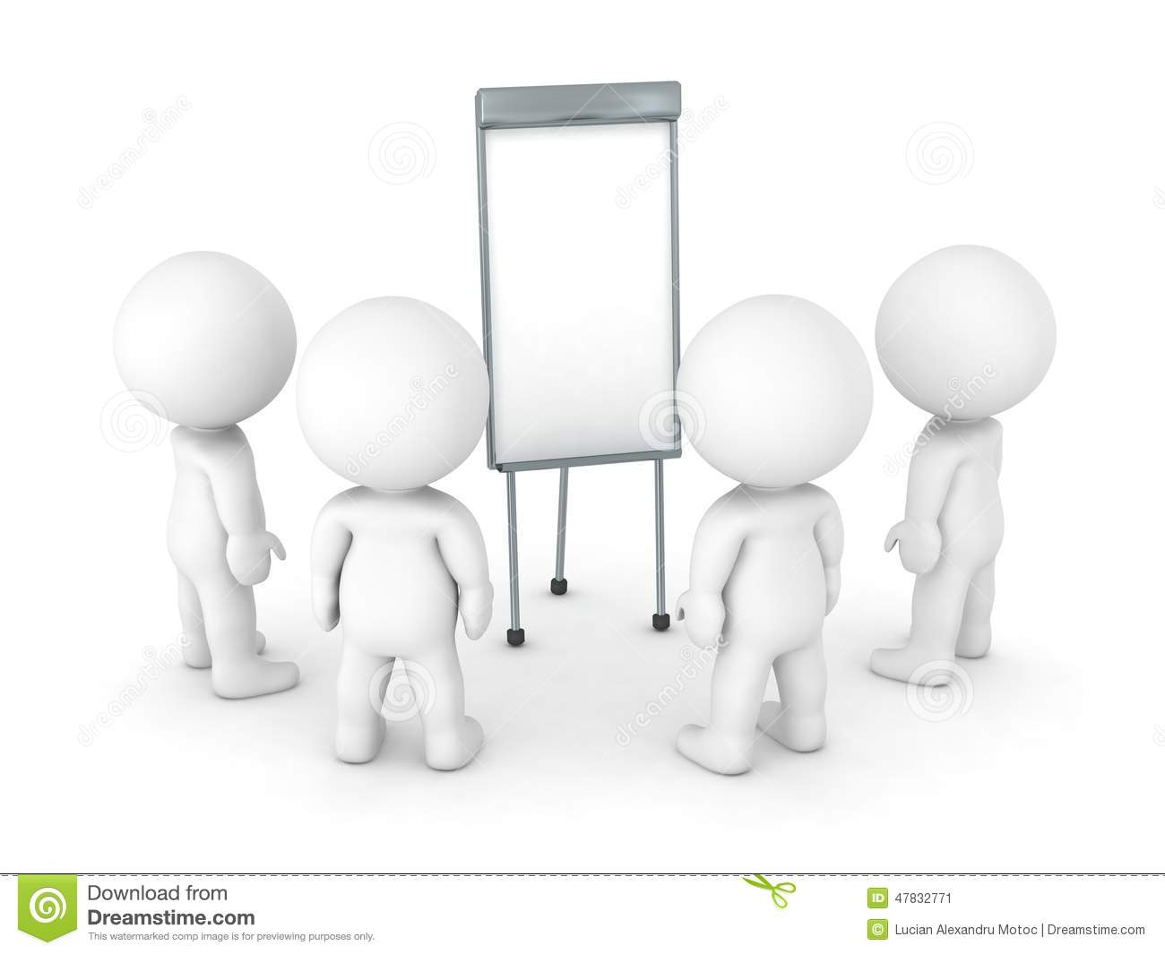 3d characters gathered around flip chart stock Office Clip Art Consequences Clip Art Free