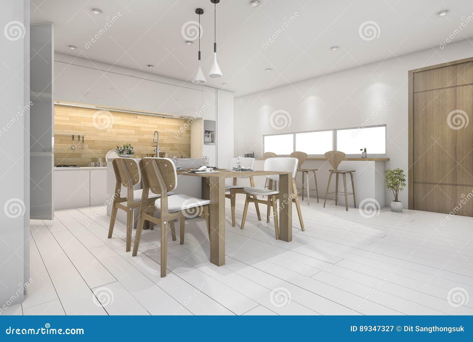 Cucina bianca tavolo
