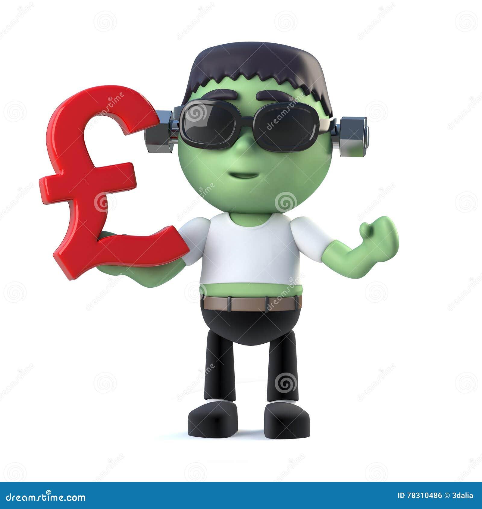 3d child frankenstein monster has uk pounds currency symbol stock 3d child frankenstein monster has uk pounds currency symbol biocorpaavc Gallery