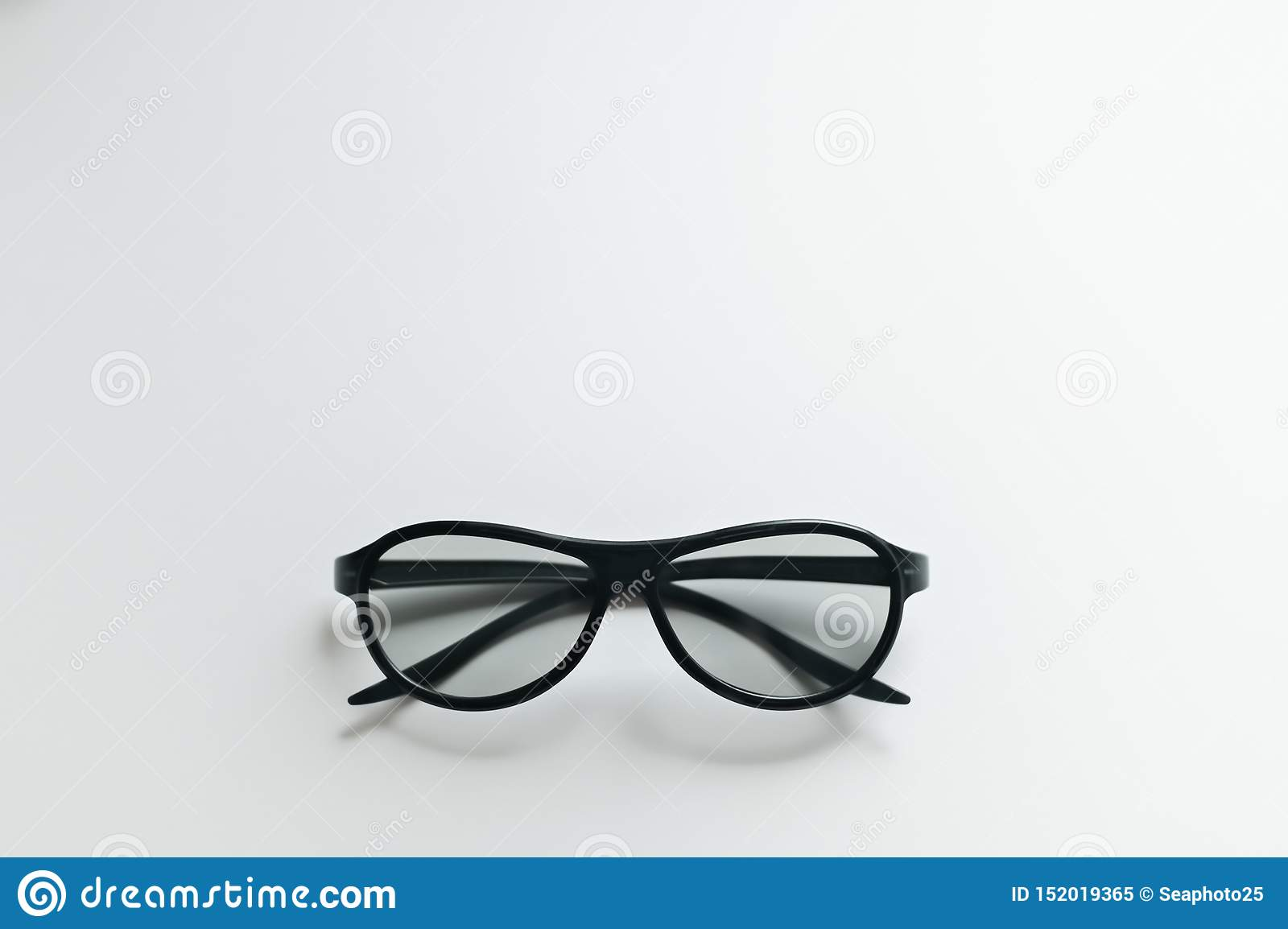 3D cinema glasses on a white background.