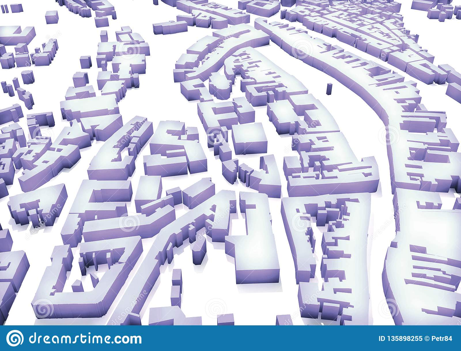 3d City Plan Of Urban Scene Stock Illustration - Illustration of