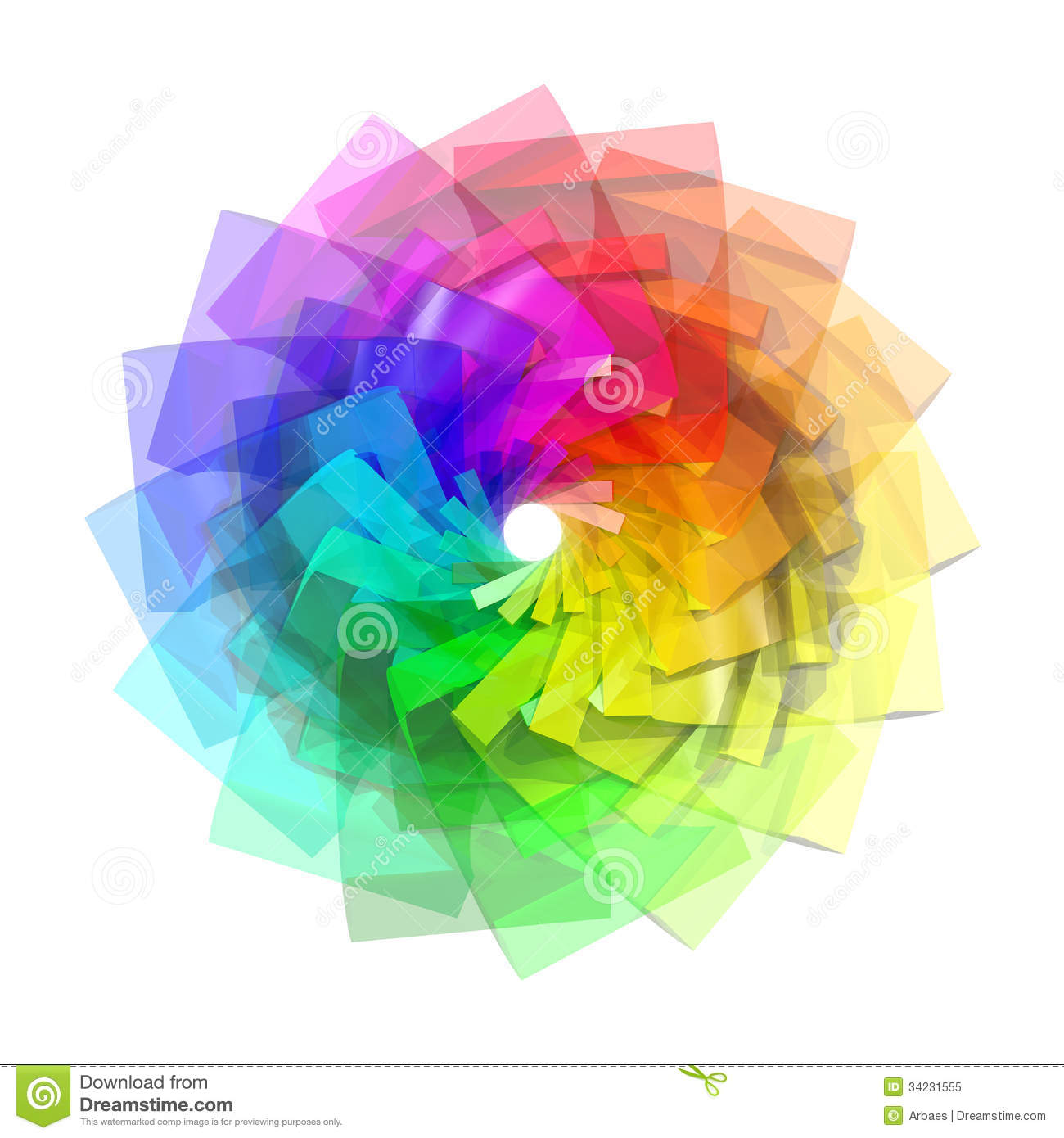 3d Color Spiral Royalt...