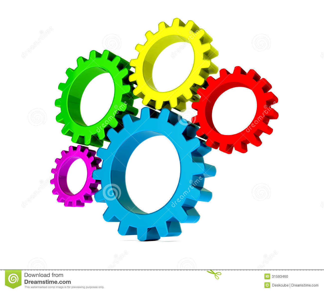 3d colorful gears stock illustration image of blue power
