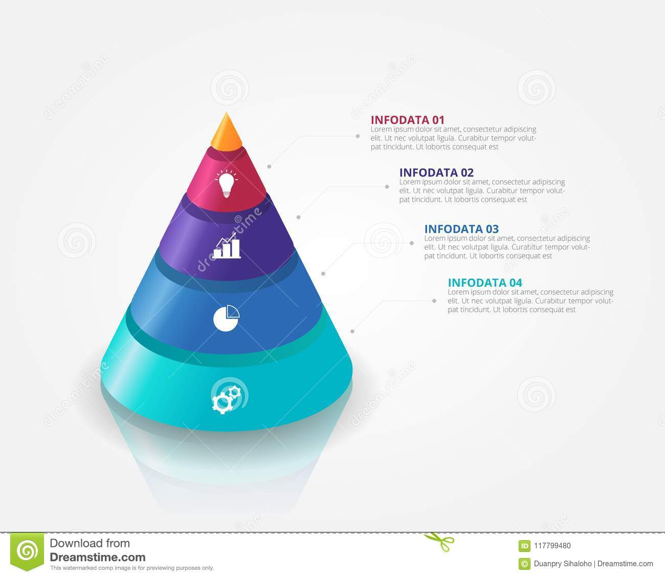 Download 3D Cone Pyramid Infographics Template For Business Education Web Design Banners