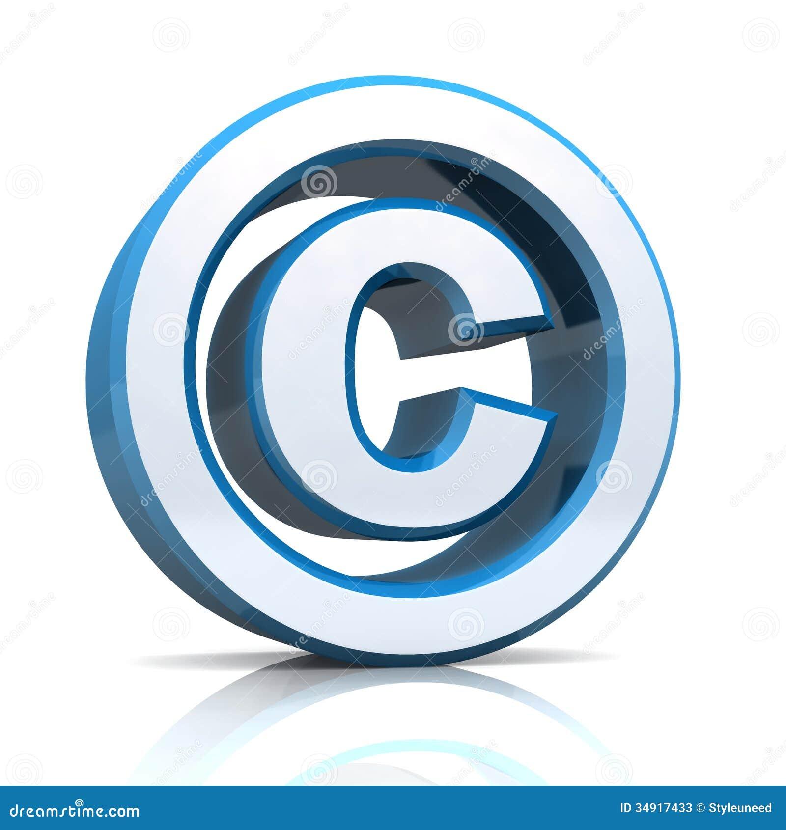 3d Copyright Symbol Stock Illustration Illustration Of Mark 34917433