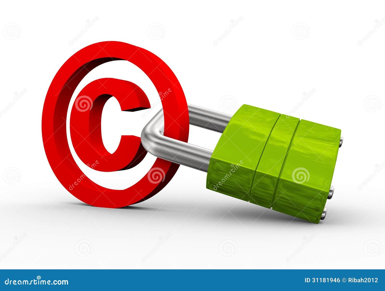 3d copyright symbol padlock stock illustration illustration of 3d copyright symbol padlock biocorpaavc