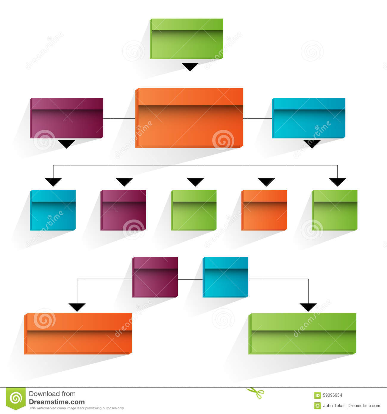 3d Corporate Organizational Chart Icon Stock Vector - Image: 59096954