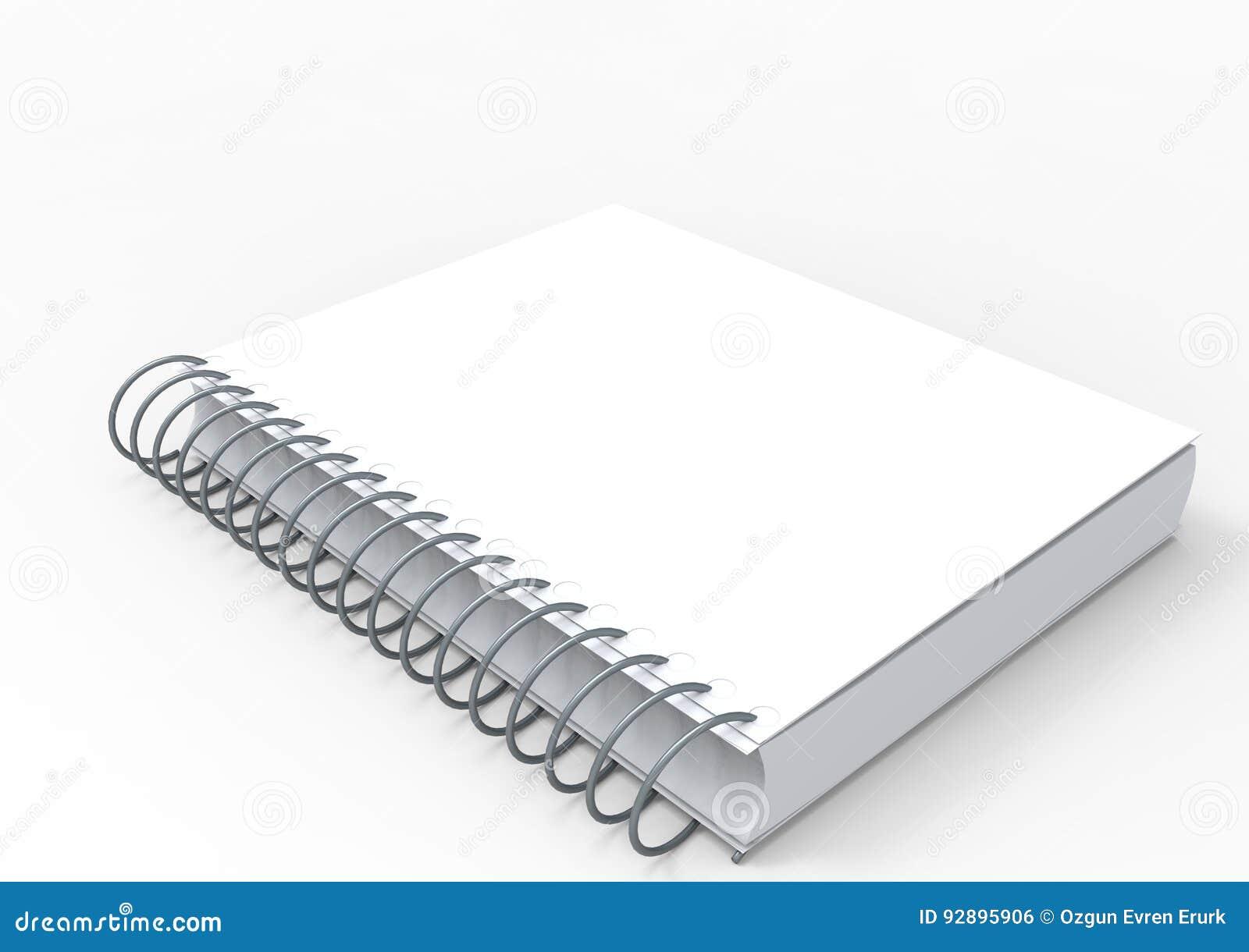 3D cover notebook stock illustration  Illustration of