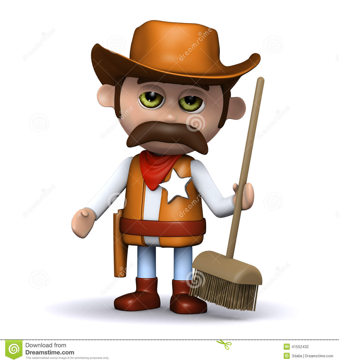 Wild West Outlaw 3d Cowboy Sheriff Hand...