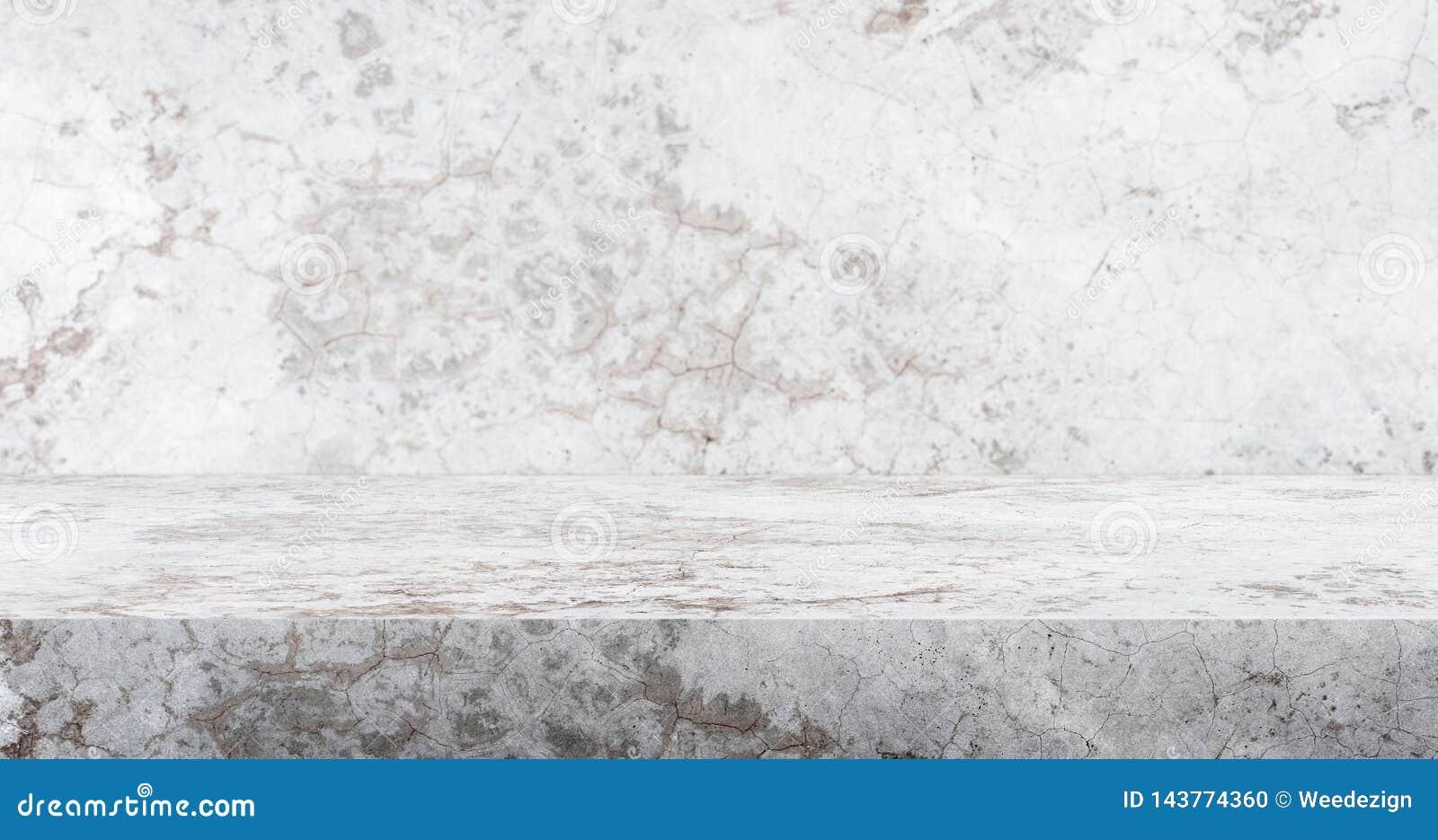 3d Crack Concrete Table Studio Background Textured For
