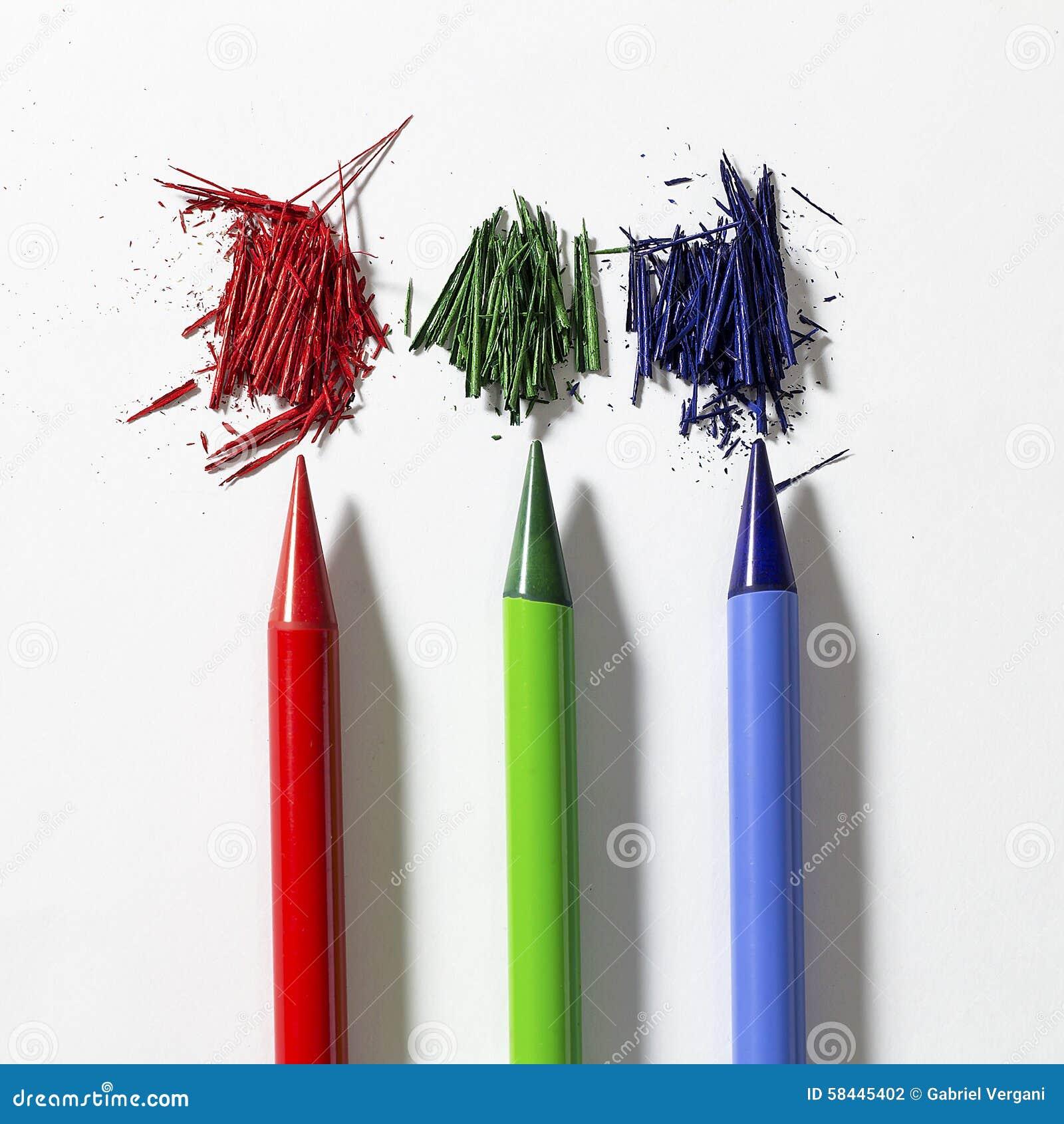 3d crayonnent le blanc de RVB