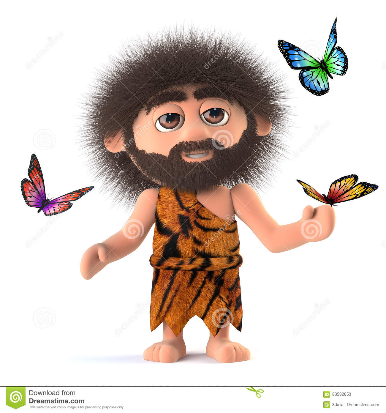 Caveman Stick : D crazy hairy caveman holding a stick of candy royalty