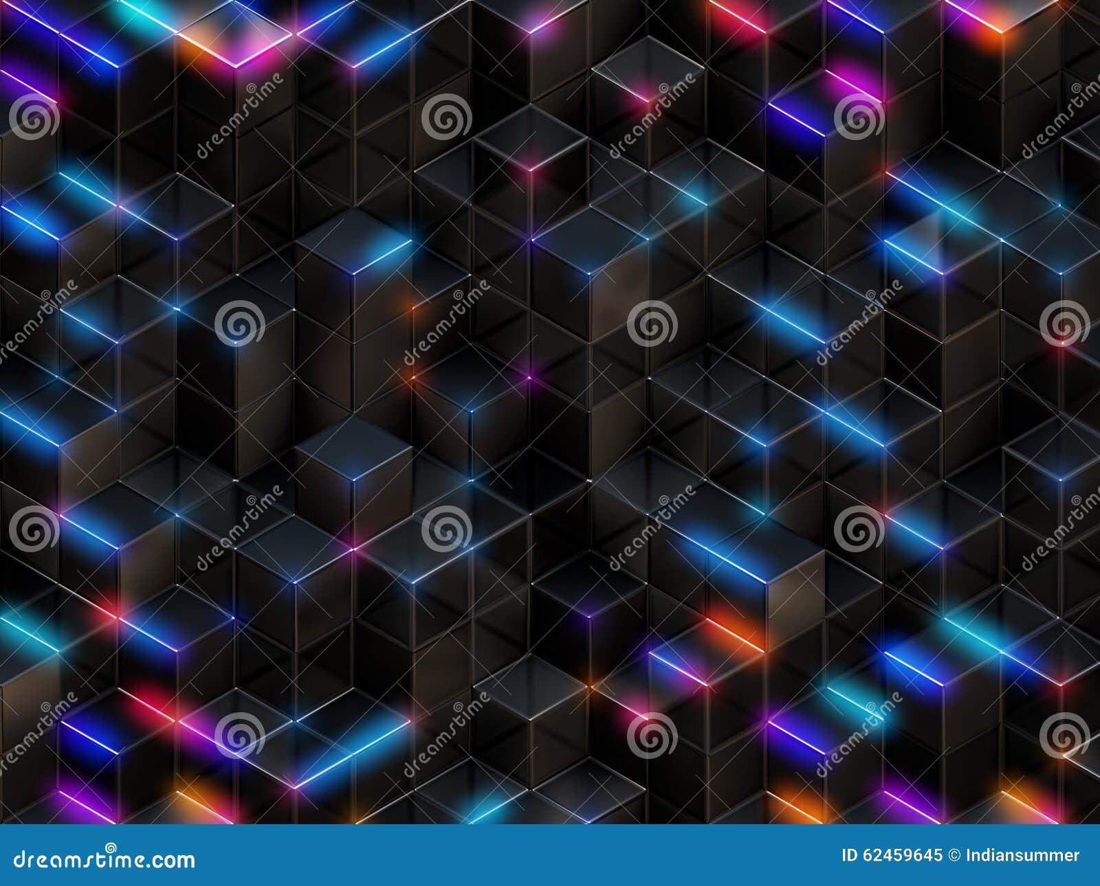 3d cuba o fundo abstrato
