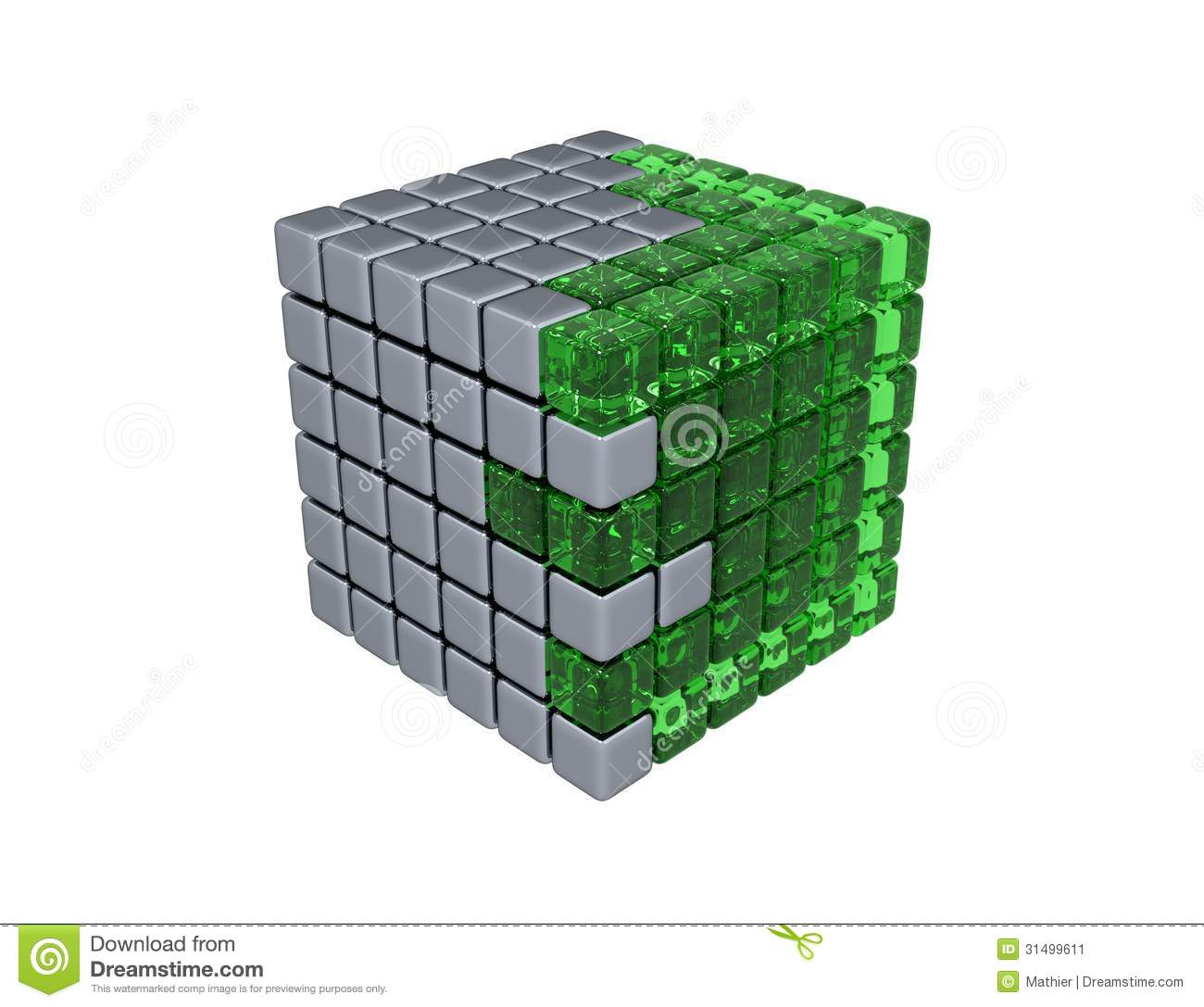 3D Cube - Isolated stock image  Illustration of concept