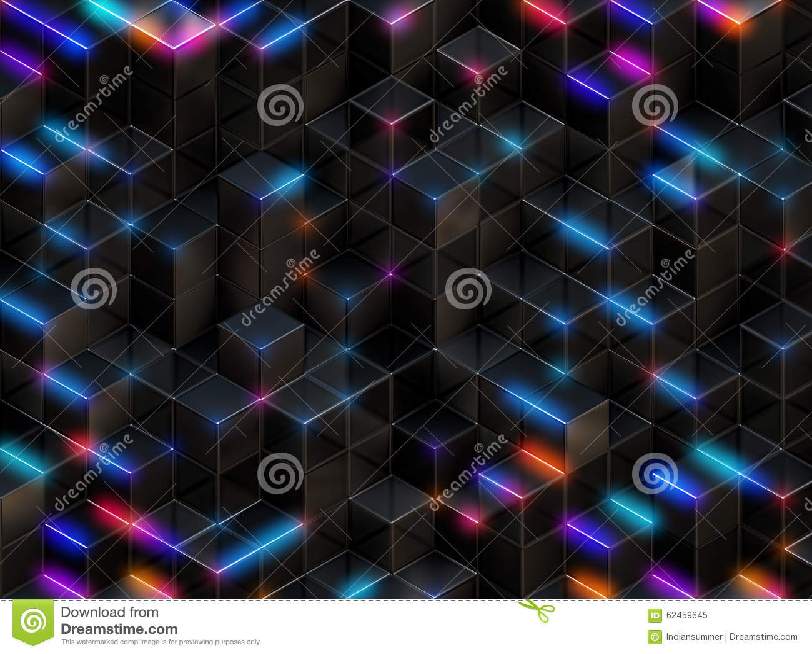 3d cube le fond abstrait