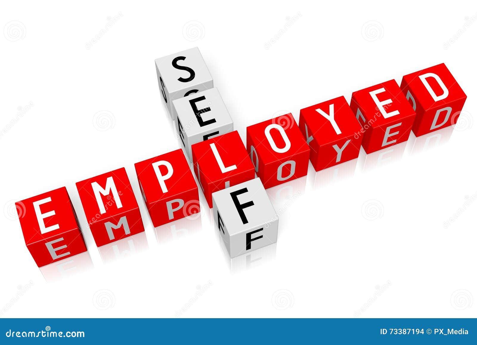 3d cubes concept self employed stock illustration illustration
