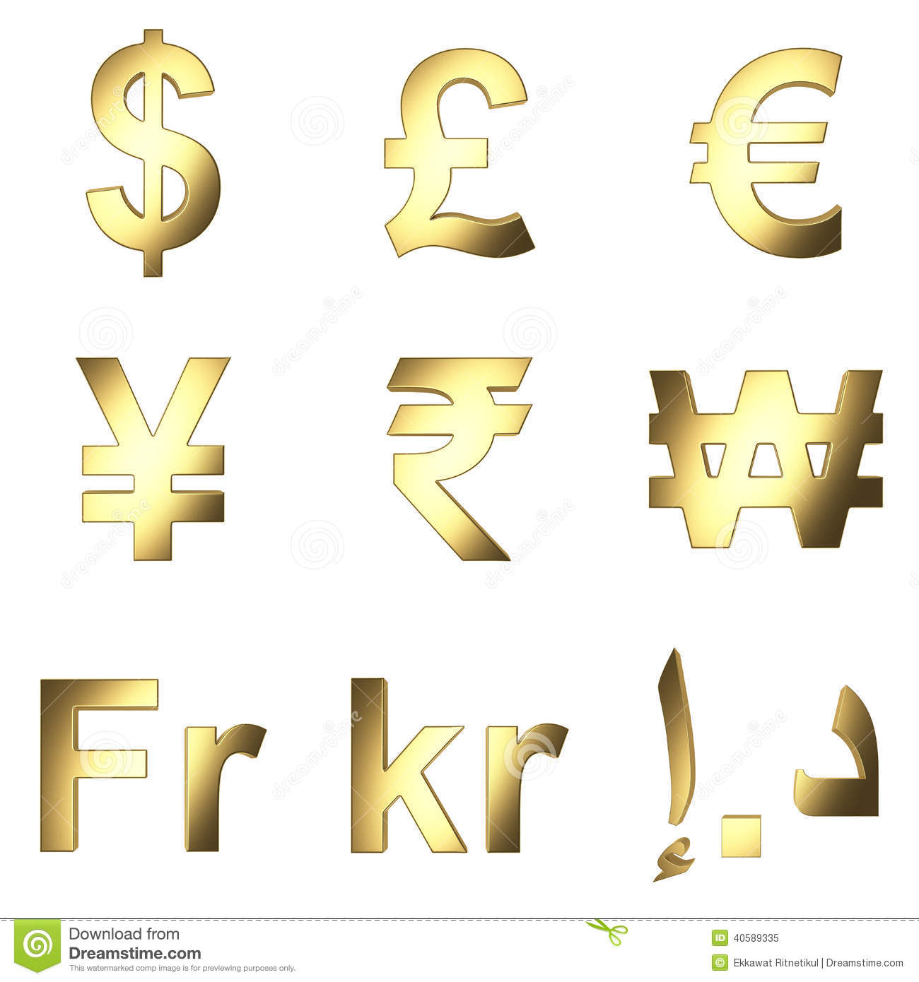 3d Currency Symbol Gold Satined Matterial Png