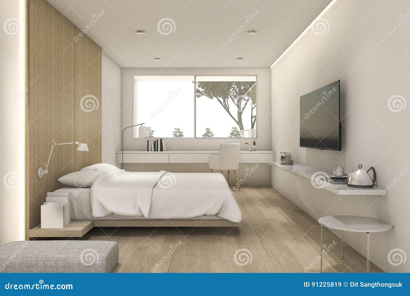 3d Fußboden Schlafzimmer ~ D das nettes minimales schlafzimmer mit fernsehen und puff