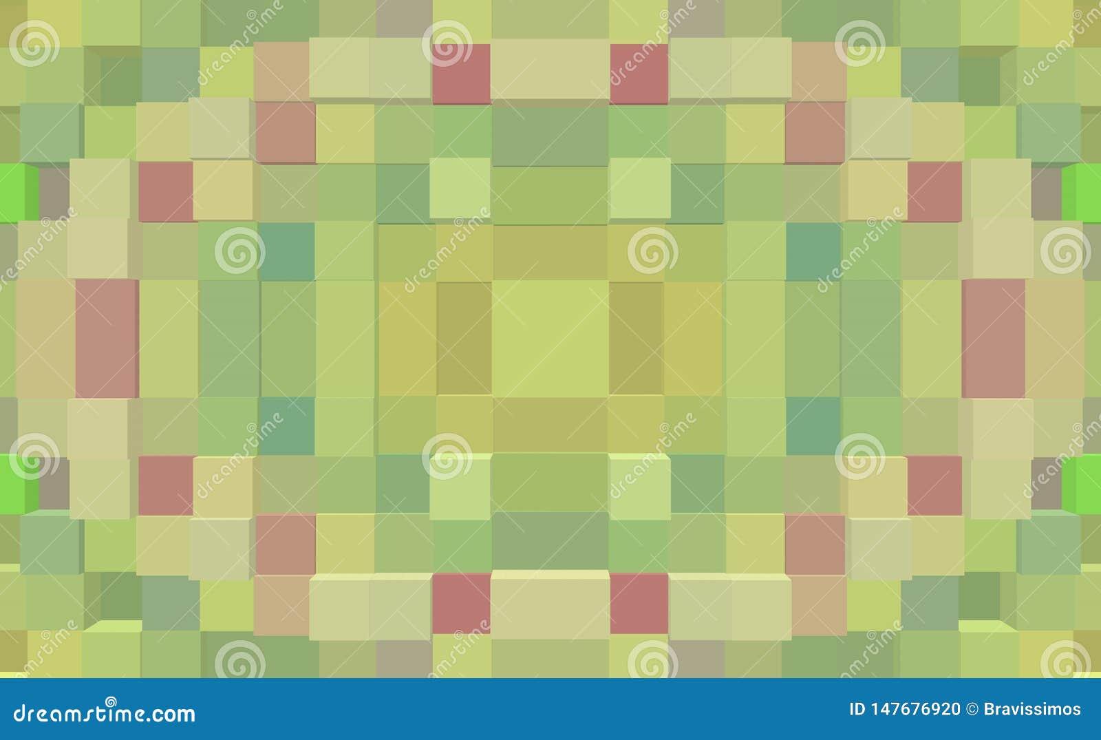 3d de kubus drijft naadloze symmetrieachtergrond uit,