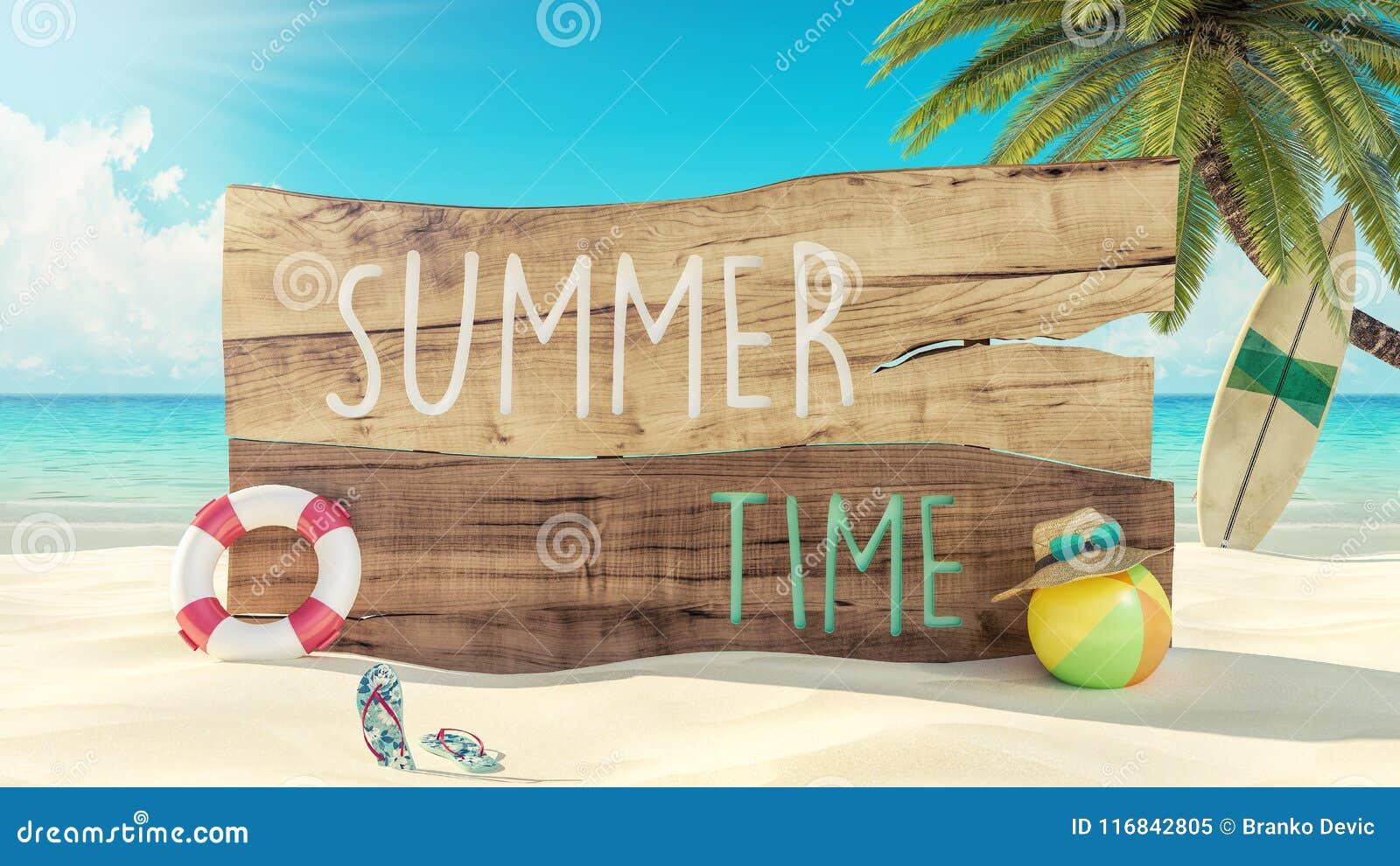 3d de Vakantie van de de zomertijd geeft terug