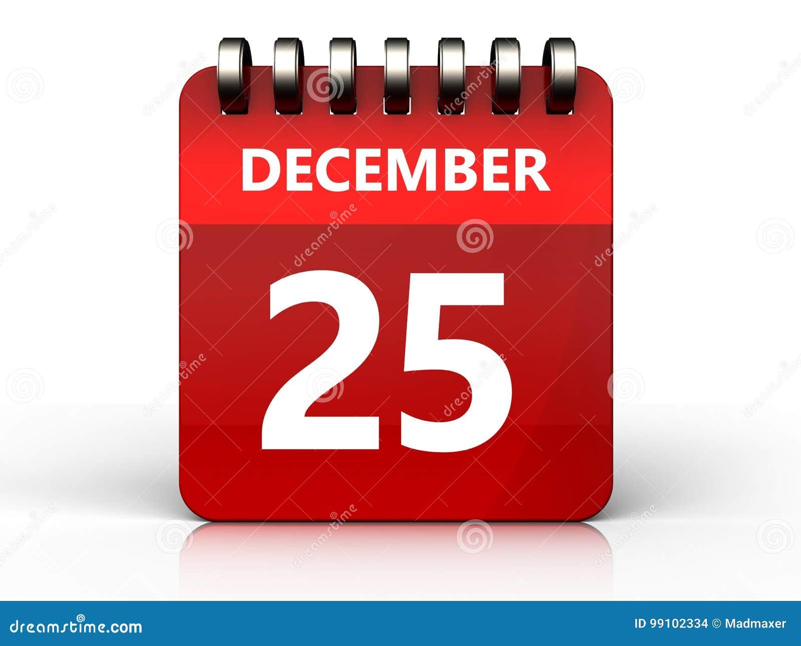 3d 25 december calendar