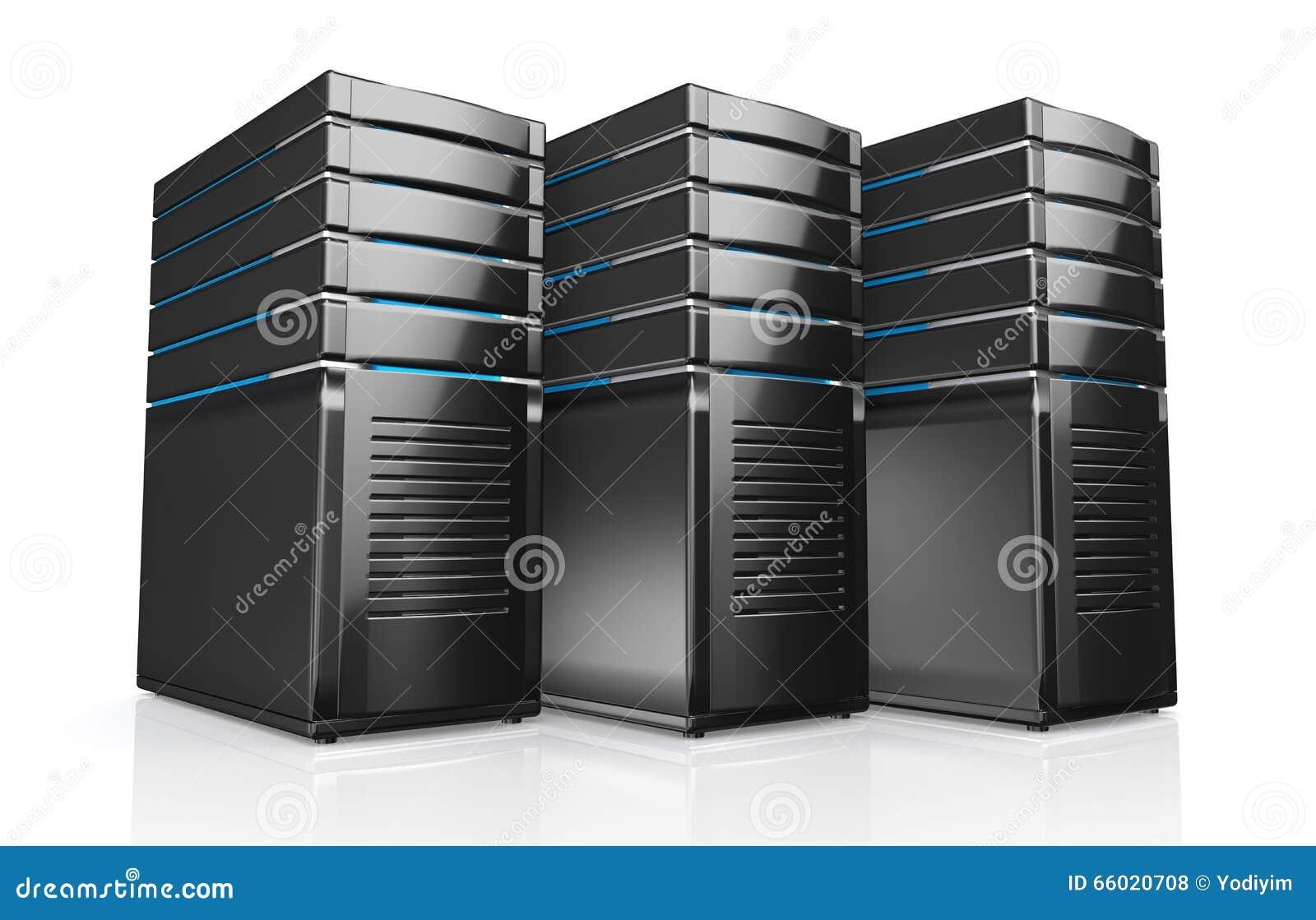 3d dei server della stazione di lavoro della rete