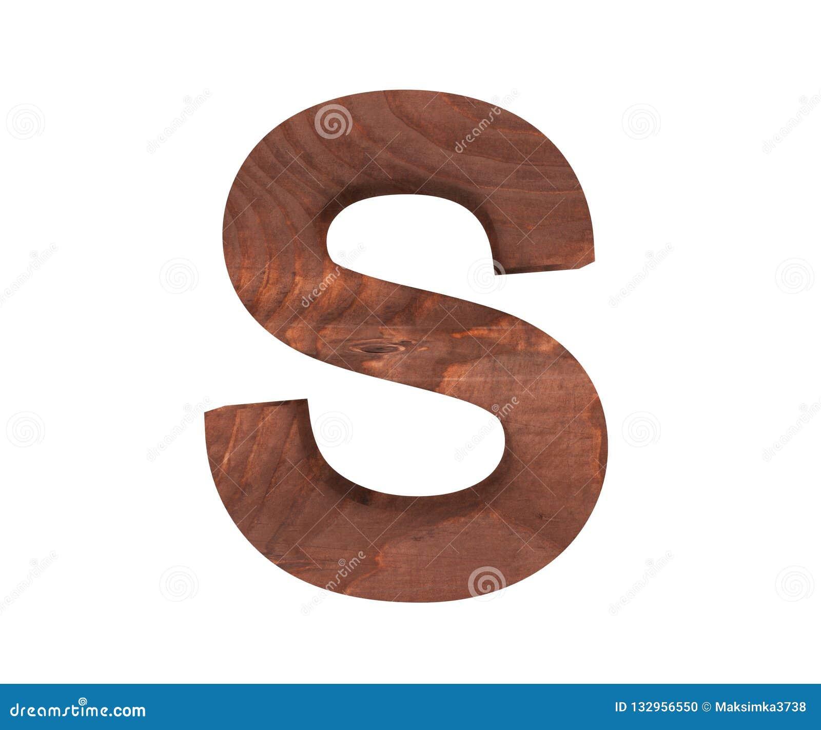 3D dekorativt träalfabet, versal S