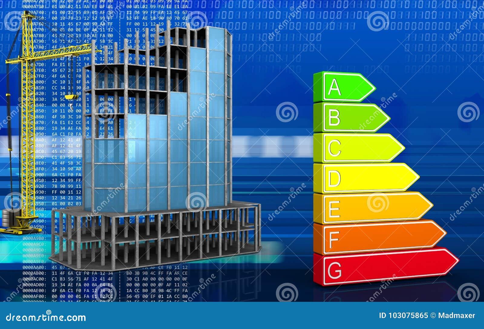 3d Del Bastidor De Edificio Moderno Stock de ilustración ...