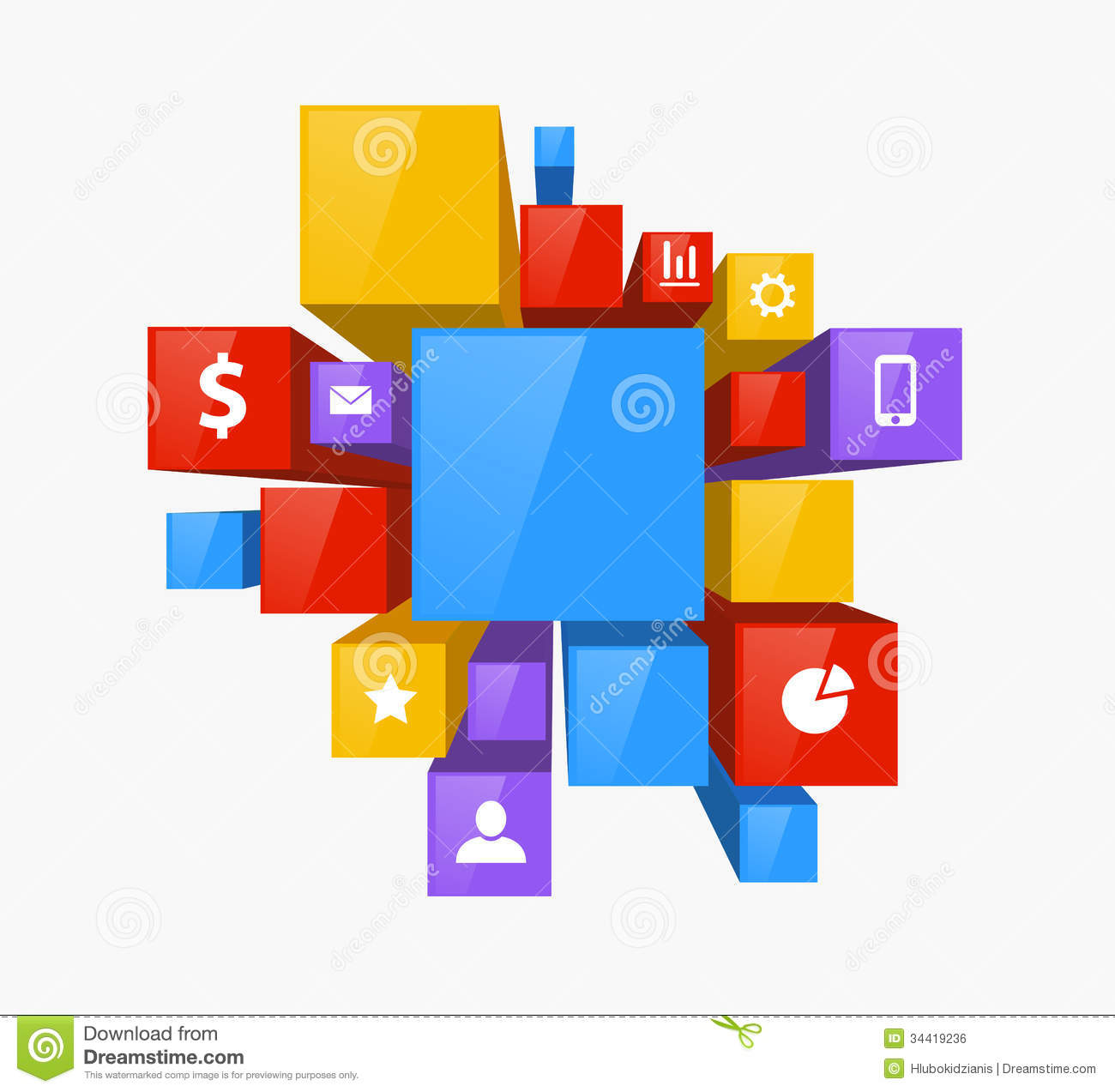 3d design stock vector image of layout square concept 34419236 3d design free
