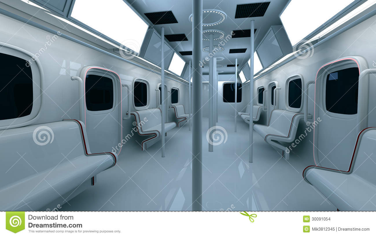 Metro Interior Design Extraordinary Futuristic Metro Interior Stock Images  Image 30091054 Design Ideas