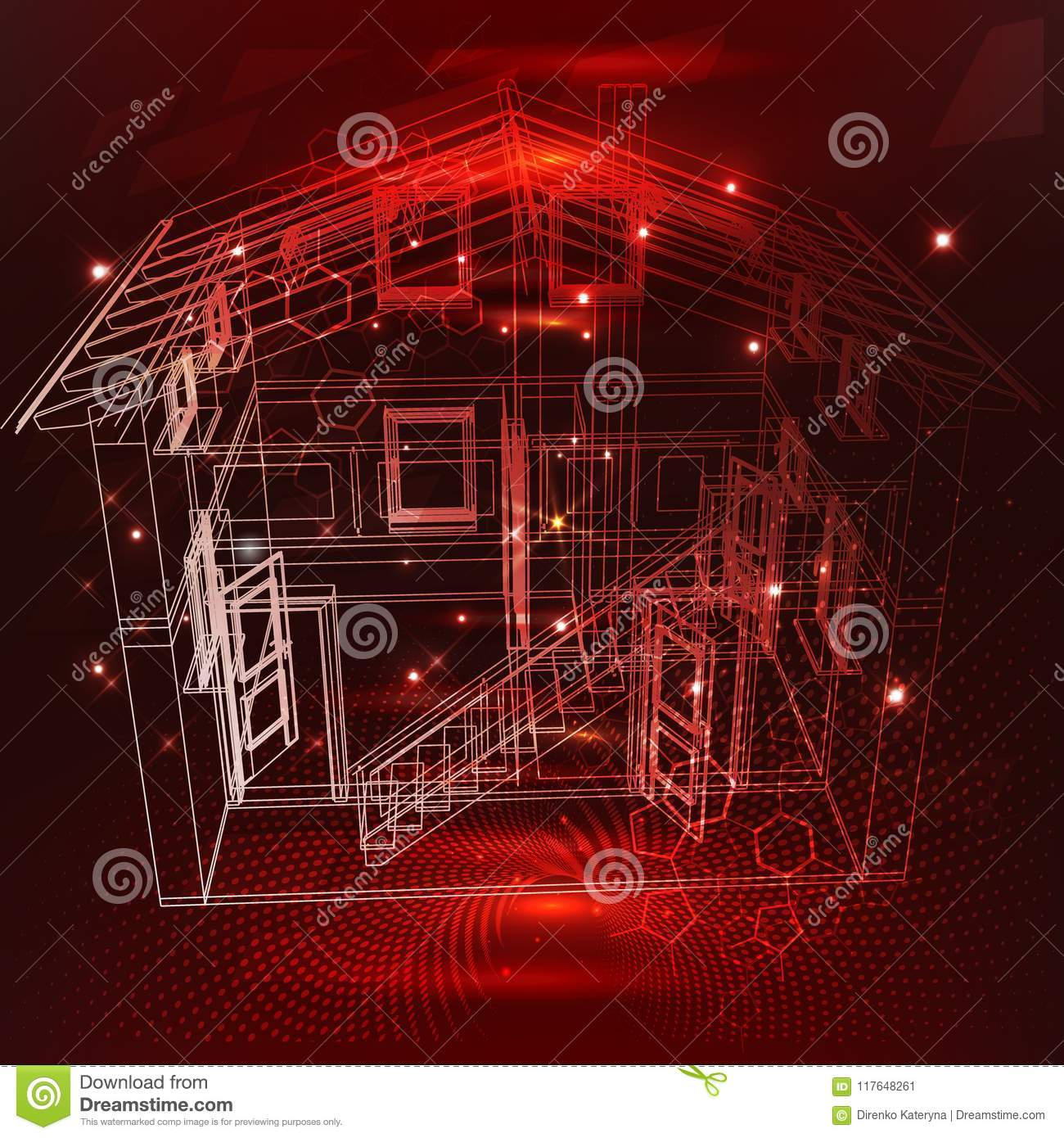 3d Design Smart Home. Internet Of Things Control Comfort
