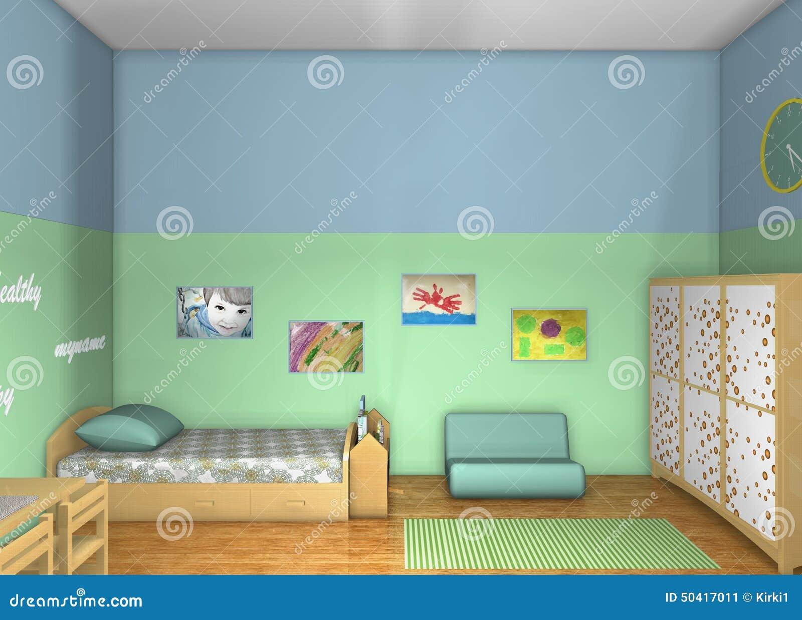3D design. Toddlers\' room stock illustration. Illustration of ...