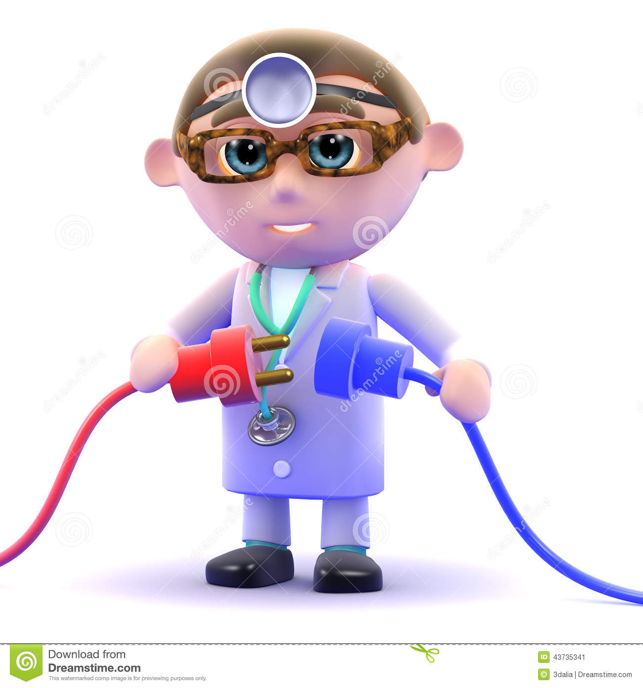 3d Doctor plugs in the power