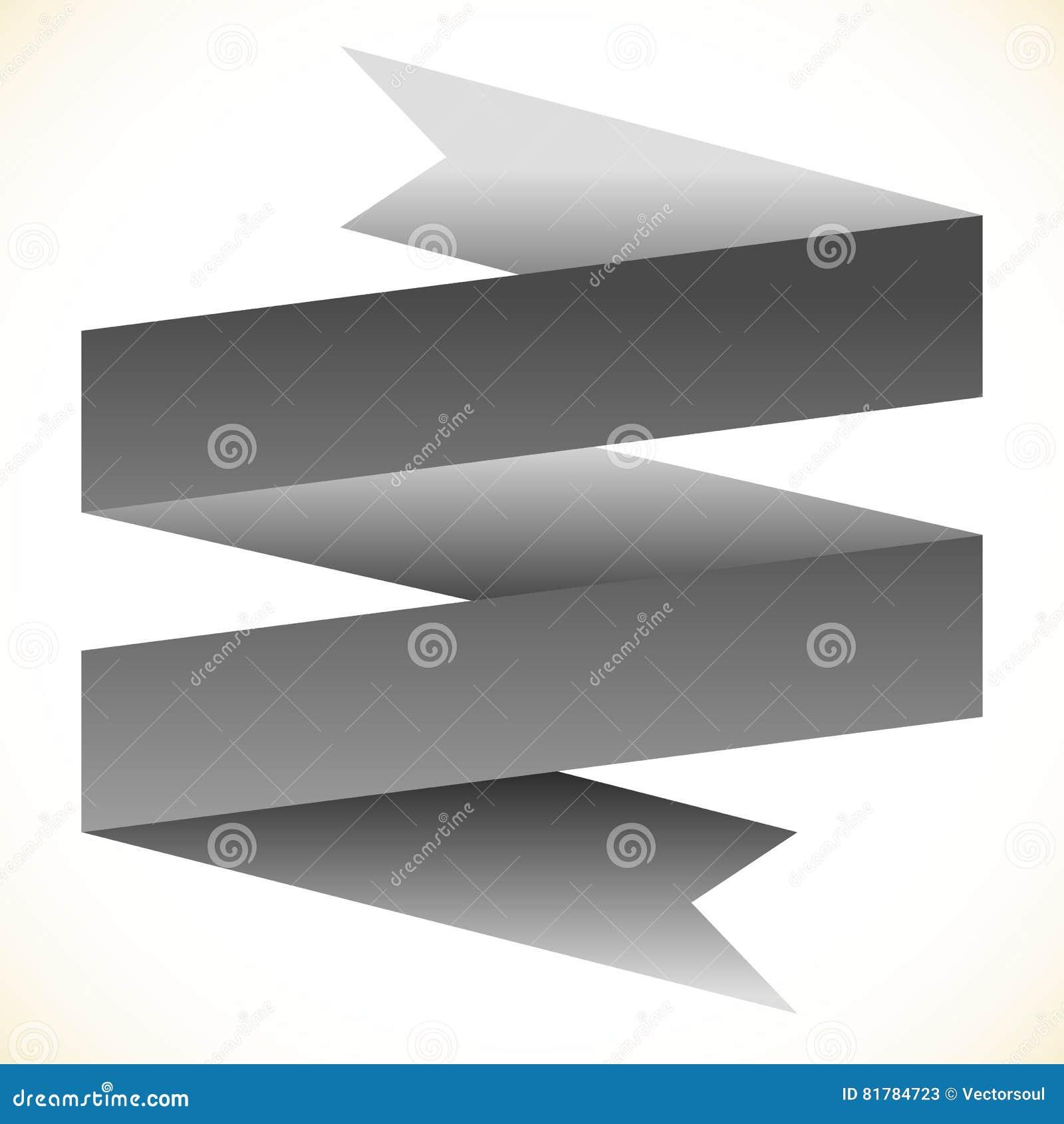 3d double banner ribbon design element banner shape isolated