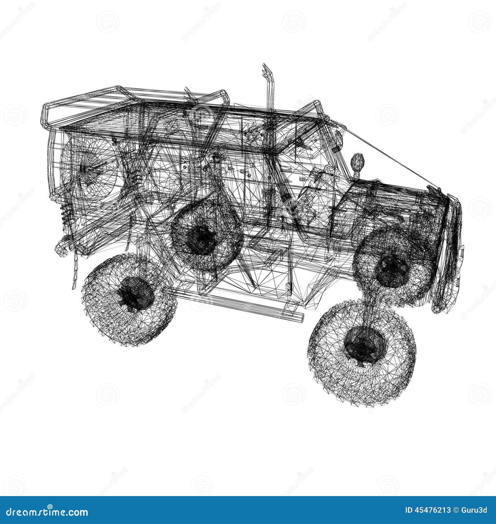 3d 3ds汽车做最大设计